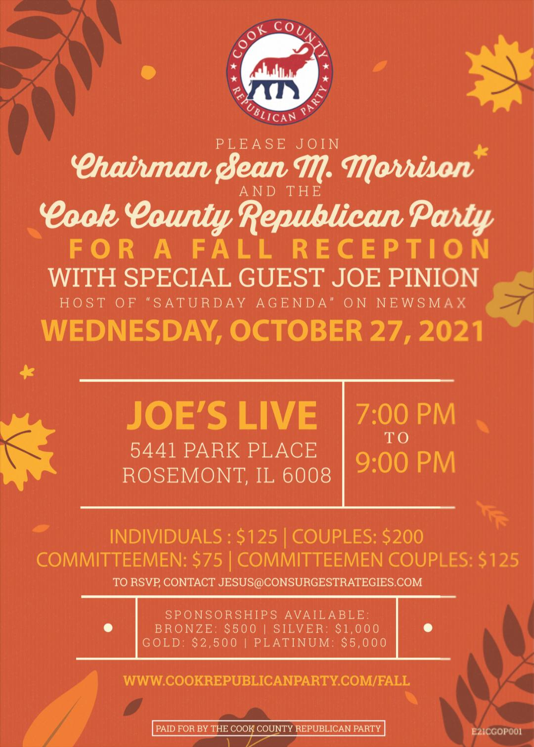 Click to order tickets to the Cook County GOP fall reception