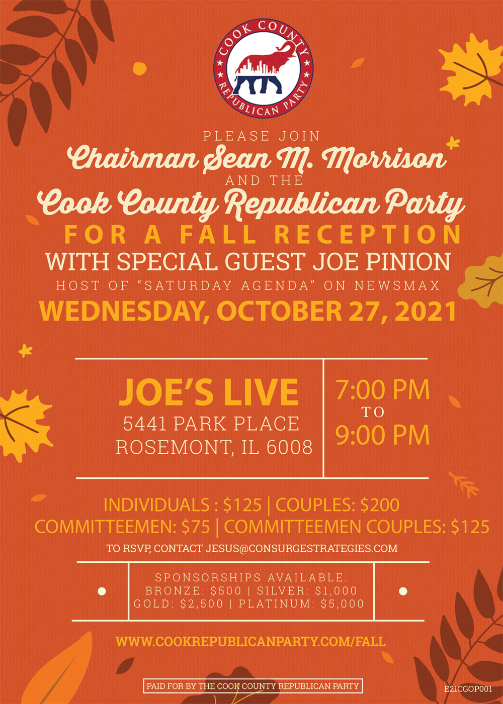 Cook GOP Fall Fundraiser